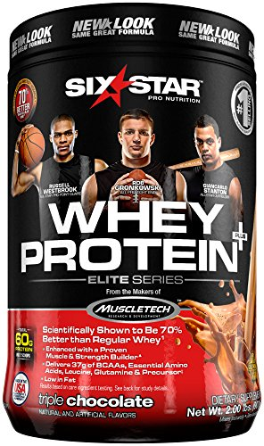 Image of the Six Star Pro Nutrition Elite Series Whey Protein Powder, Triple Chocolate, 2 Pound