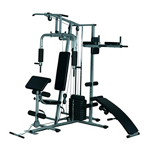 Image of the Soozier Complete Home Fitness Station Gym Machine w 100 lb  Stack f0c40914568e
