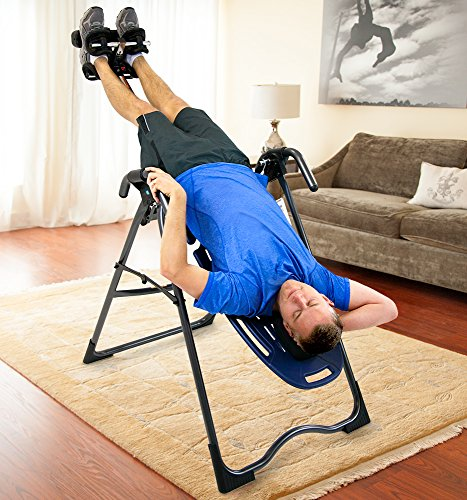 Image of the Teeter Ep-560 LTD. Refurbished Ep-560 Inversion Table for Back Pain Relief, Fda Cleared, 3Rd-Party Certified, Blue