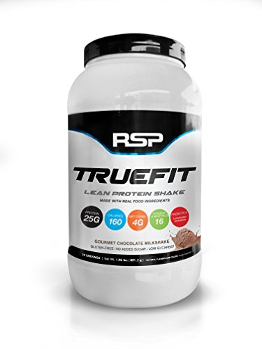 Image of the RSP TrueFit - Lean Meal Replacement Protein Shake with Fiber & Probiotics from Essential Real Whole Foods, Gourmet Chocolate Milkshake, 2 Pound Protein Powder for Men & Women