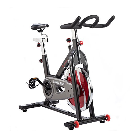 Image of the Sunny Health & Fitness SF-B1002 Belt Drive Indoor Cycling Bike, Grey