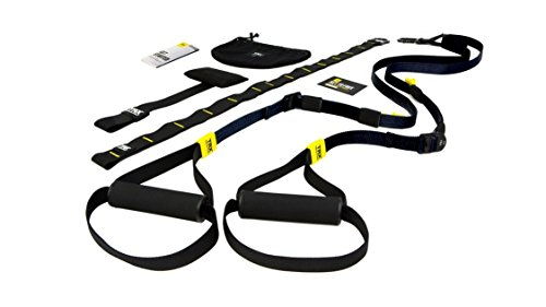 Image of the TRX Training - GO Suspension Trainer Kit, Lightest, Leanest Suspension Trainer Ever - Perfect for Travel and Working Out Indoors & Outdoors (Black)