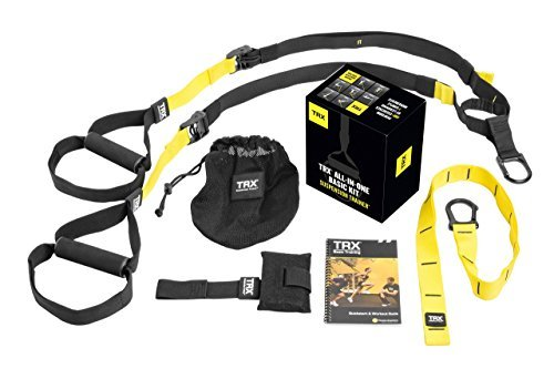 Image of the TRX Training - Suspension Trainer Basic Kit + Door Anchor, Complete Full Body Workouts Kit for Home and on the Road
