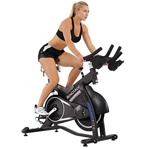 Image of the ASUNA Minotaur Cycle Exercise Bike - Magnetic Belt Drive High Weight Capacity Commercial Indoor Cycling Bike