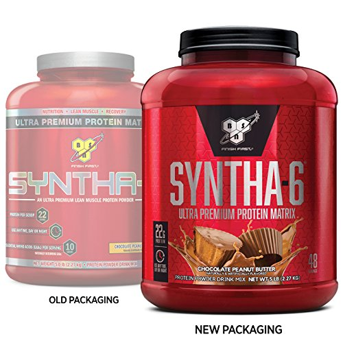 Image of the BSN SYNTHA-6 Whey Protein Powder, Micellar Casein, Milk Protein Isolate Meal Replacement Powder, Chocolate Peanut Butter, 48 Servings (Packaging May Vary)