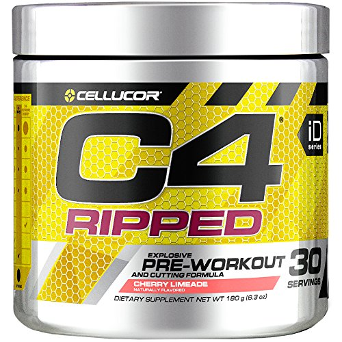 Image of the Cellucor C4 Ripped Pre Workout Powder, Thermogenic Fat Burner, Energy & Weight Loss Supplement For Men & Women, Cherry Limeade, 30 Servings