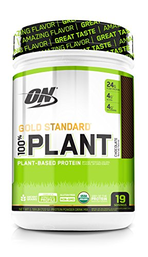 Image of the Optimum Nutrition Gold Standard 100% Organic Plant Based Vegan Protein Powder, Chocolate, 1.59 Pound