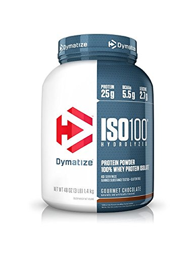 Image of the Dymatize ISO 100 Whey Protein Powder Isolate, Gourmet Chocolate, 3 lbs