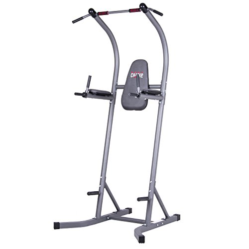 Image of the Body Champ PT620 Fitness Multifunction Power Tower/Multi station for Home Office Gym Dip Stands Pull Up VKR/Space Saving