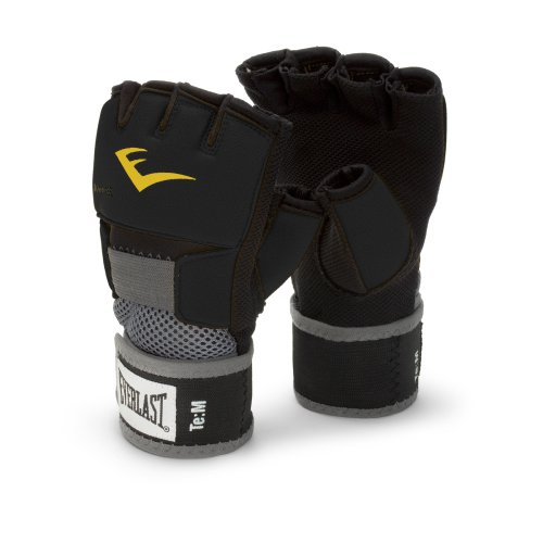 Image of the Everlast EverGel Hand Wraps (Black, Large)