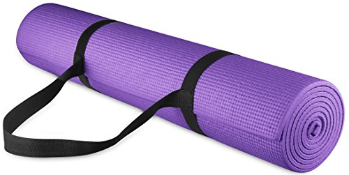 Image of the BalanceFrom GoYoga All Purpose High Density Non-Slip Exercise Yoga Mat with Carrying Strap, 1/4
