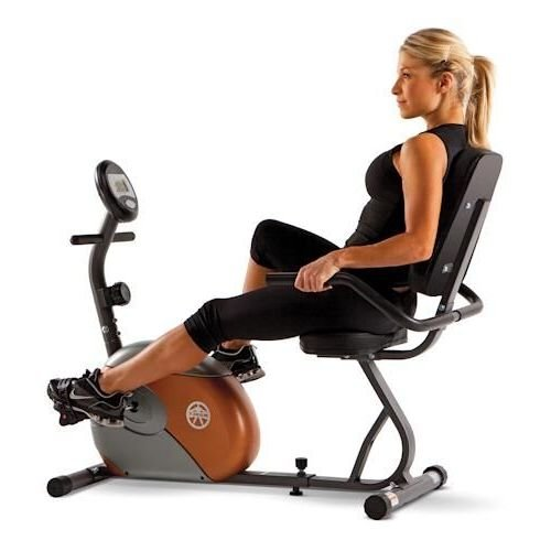 Image of the Marcy Recumbent Exercise Bike with Resistance ME-709