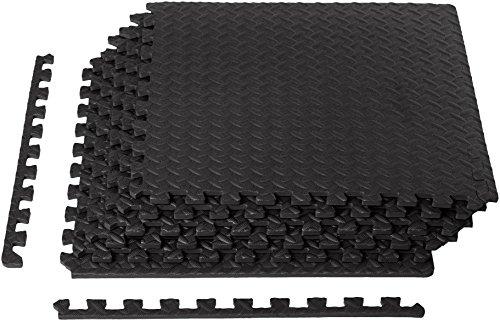 Image of the AmazonBasics Exercise Mat with EVA Foam Interlocking Tiles
