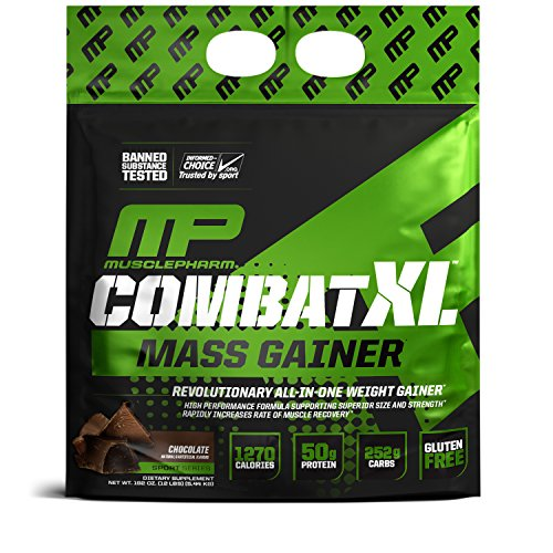 Image of the MusclePharm Combat XL Mass Gainer Powder, Chocolate, 12 Pound