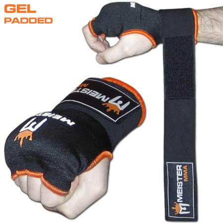 Image of the Meister Gel-Padded ProWrap Hand Wrap Gloves (Pair) - Small/Medium