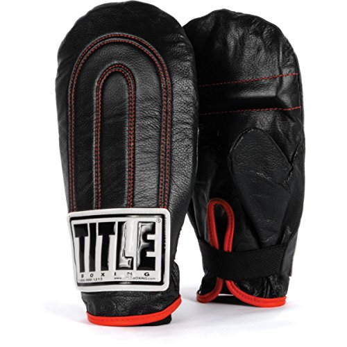 Image of the TITLE Leather Speed Bag Gloves, Black