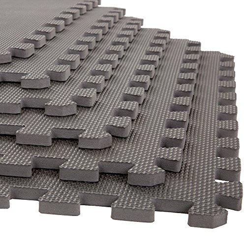Image of the Stalwart Foam Mat Floor Tiles, Interlocking EVA Foam Padding Soft Flooring for Exercising, Yoga, Camping, Kids, Babies, Playroom – 6 Pack