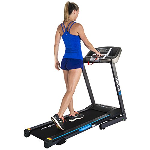 Image of the Goplus 2.25HP Folding Treadmill Electric Support Motorized Power Running Fitness Jogging Incline Machine g Fitness Jogging Incline Machine Fitness Jogging Incline Machine Black Jaguar â…¡(Classic)