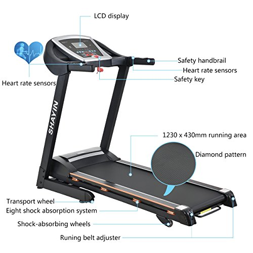 Image of the Treadmill Portable Folding Running Machine Indoor Commercial Home Health Fitness Training Equipment (US Stock)