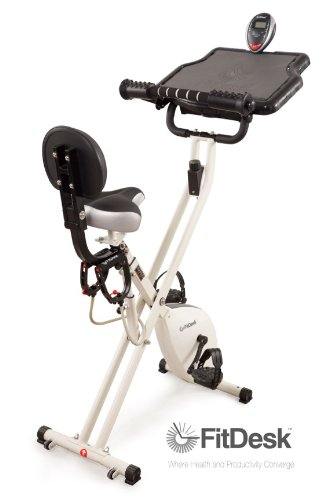 Image of the FitDesk 2.0 Desk Exercise Bike with Massage Bar