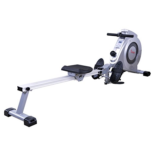 Image of the Sunny Health & Fitness SF-RW5612 Dual Function Rowing Machine Rower w/ LCD Monitor