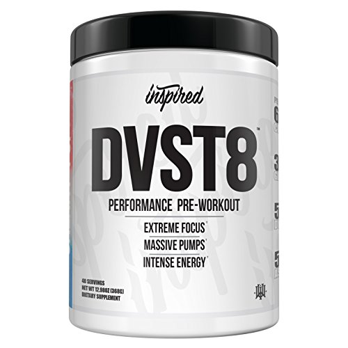 Image of the Inspired DVST8 | Extreme Performance, Energy, Pumps, and Nitric Oxide, Yohimbe Free Pre-Workout Powder, Citrulline, Beta-Alanine, Dynamine (Cali Gold)