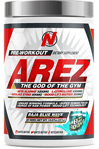 Image of the AREZ God of the Gym Pre-Workout (Baja Blue Wave)