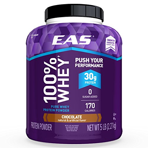 Image of the EAS 100% Pure Whey Protein Powder, Chocolate, 5lb Tub, 30 grams of Whey Protein Per Serving (Packaging May Vary)