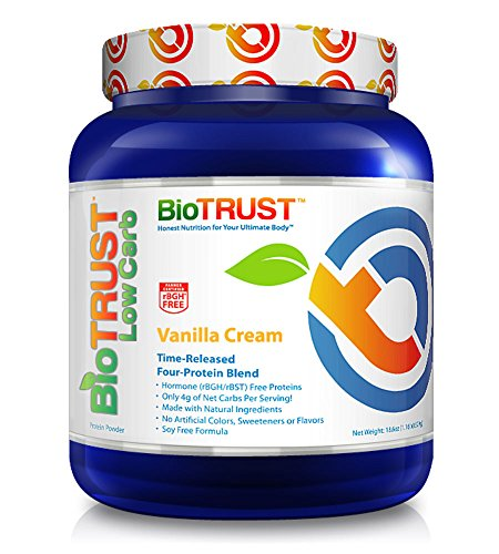 Image of the BioTrust Low Carb Grass Fed Whey Protein Powder | Keto Meal Replacement Shakes | Non GMO, Soy Free, Gluten Free, Hormone & Antibiotic Free, rBGH Free | Easy to Digest ProHydrolase, Vanilla Cream