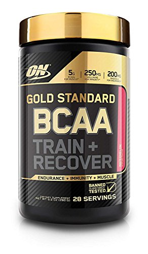 Image of the Optimum Nutrition Gold Standard BCAA, Watermelon, 28 Servings, Branched Chain Amino Acids, 5g BCAA blend