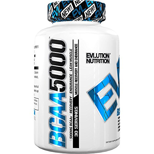 Image of the Evlution Nutrition BCAA5000, Branched Chain Amino Acids, Muscle Building Capsules with 5 Grams of BCAAs (30 Servings)