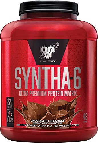 Image of the BSN SYNTHA-6 Protein Powder, Whey Protein, Micellar Casein, Milk Protein Isolate, Flavor: Chocolate Milkshake, 48 Servings