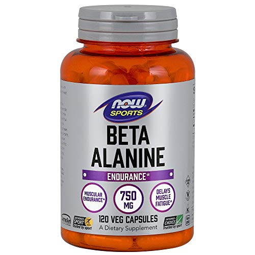 Image of the NOW Sports Beta-Alanine 750mg, 120 Capsules