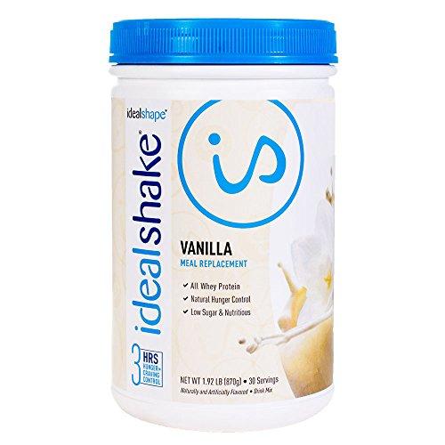 Image of the IdealShake, Meal Replacement Shake, Vanilla, w/ Hunger Blocker, 30 Servings