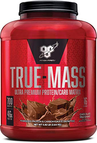 Image of the BSN TRUE-MASS Weight Gainer, Muscle Mass Gainer Protein Powder, Chocolate Milkshake, 5.82 Pound
