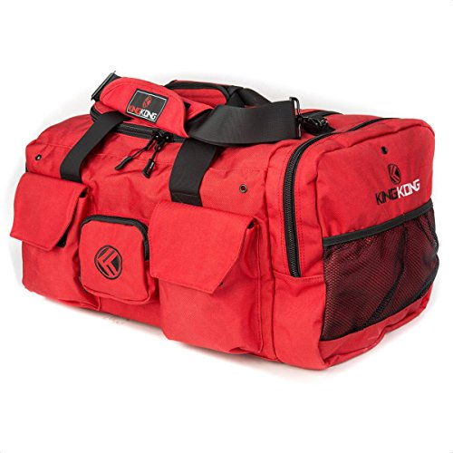 "Image of the King Kong Original Nylon Gym Bag - Heavy Duty and Water-Resistant Duffle Bag - Military Spec Nylon- Heavy Duty Steel Buckles - 20"" x 12"" x 12"" - Red"