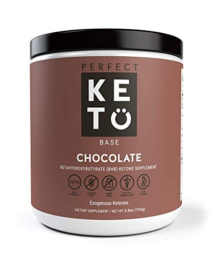 Image of the Perfect Keto Exogenous Ketones: Base BHB Salts Supplement. Ketones for Ketogenic Diet Best to Support Weight Management & Energy, Focus and Ketosis Beta-Hydroxybutyrate BHB Salt (Chocolate)