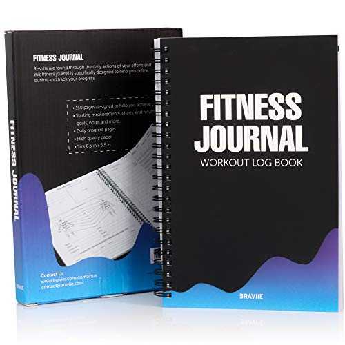 Image of the Detailed Fitness Journal with Built in Planner and Workout Log Book - Easily Tracks All Your Training On Our Easy Write Premium Paper