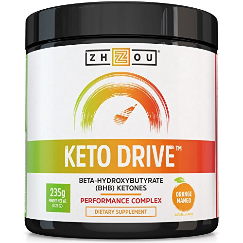 Image of the Keto Drive BHB Salts - Exogenous Ketone Performance Complex - Formulated for Ketosis, Energy and Focus - Patented Beta-Hydroxybutyrates (Calcium, Sodium, Magnesium) - Orange Mango
