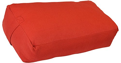Image of the YogaAccessories Supportive Rectangular Cotton Yoga Bolster - Cardinal Red