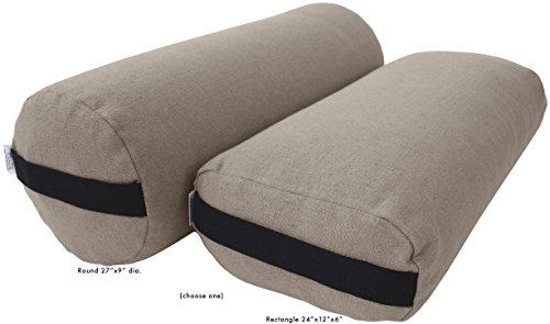 Image of the Bean Products Yoga Bolster - Hemp Round - Natural