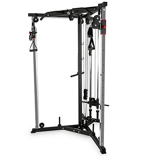 Image of the Valor Fitness BD-61 Cable Crossover Station with LAT Pull, Row Bar, and Multi-Grip Pull-Up Station