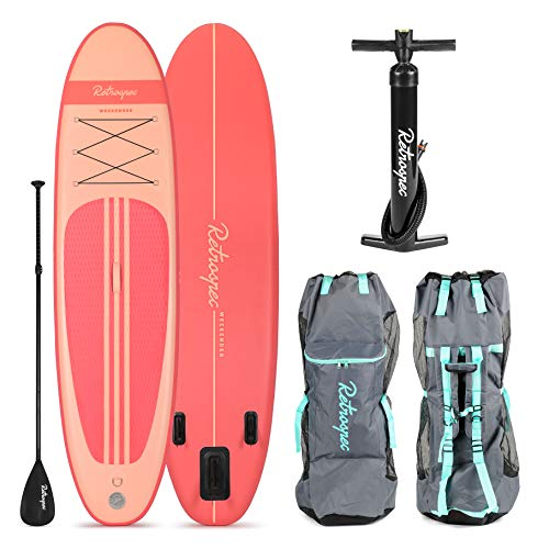 Image of the Retrospec Weekender 10' Inflatable Stand Up Paddleboard Bundle