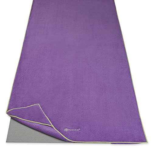 Image of the Gaiam Stay Put Yoga Towel Mat Size Yoga Mat Towel (Fits Over Standard Size Yoga Mat - 68