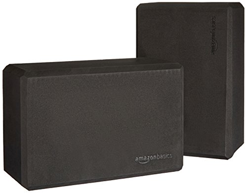 Image of the AmazonBasics Yoga Blocks, Set of 2 - Black