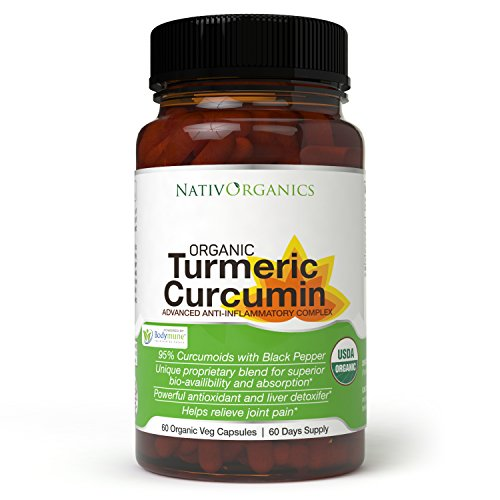 Image of the USDA Organic Turmeric Curcumin Supplement – 100% Vegan Organic Turmeric Capsules With Black Pepper Plus Ginger, Amla & Goji For Max Absorption - Highest Potency 95% Curcumoids - 60 Caps