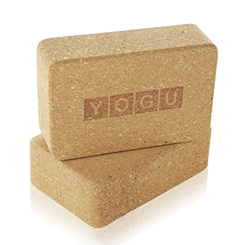 Image of the YOGU Yoga Blocks Set of 1 or 2 EVA Foam or Cork Wood