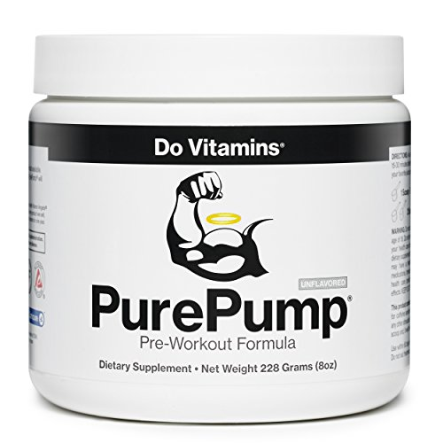 Image of the Do Vitamins - PurePump Natural Pre Workout Supplement for Men & Women, Cleanest Pre-Workout Powder Fitness Supplements Certified Paleo, Vegan, Non-GMO - No Artificial Sweeteners Colors or Flavors