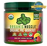 Image of the USDA Certified Organic Pre Workout Powder - Natural Pre Workout and Organic Energy Supplement - Non-GMO, Paleo, Gluten Free, Plant Based, Vegan Pre Workout for men and women -Lemon Berry flavor- 160g