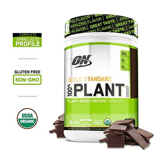 Image of the Optimum Nutrition Gold Standard 100% Organic Plant Based Vegan Protein Powder, Chocolate, 1.59 Pound